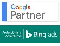 Badge Google Partner e Bing Ads Accreditation