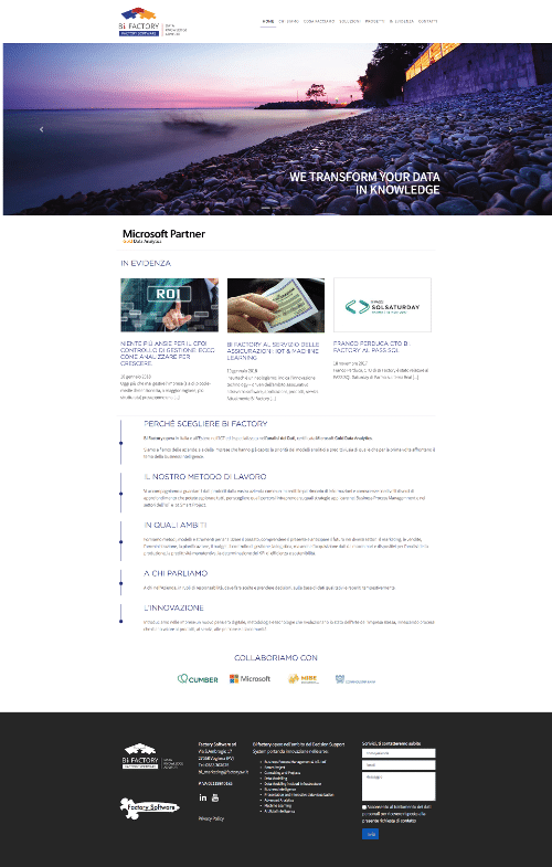 Restyling sito web Bifactory