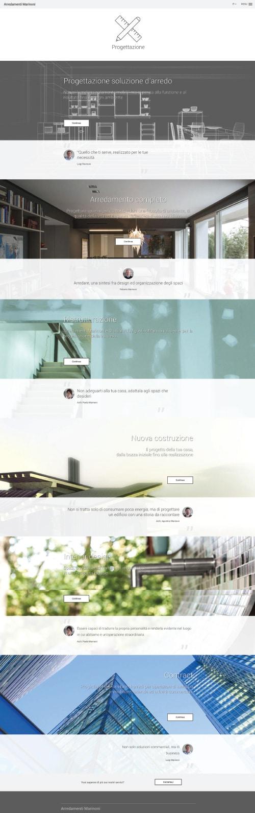 Sito Web Arredamenti Marinoni