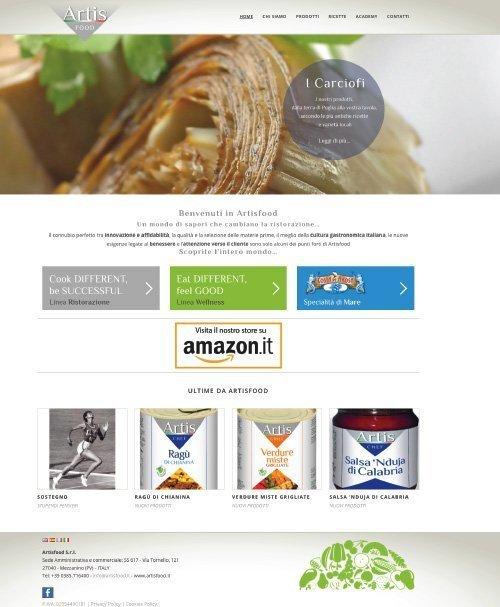 Sito Web Artisfood