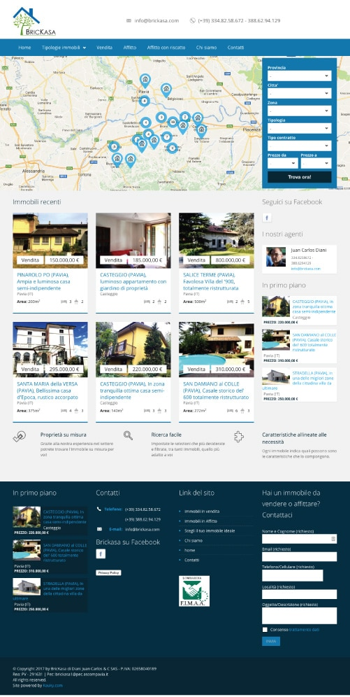 Sito Web Brickasa Immobiliare
