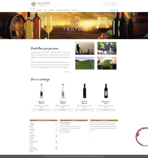 eCommerce Azienda Vinicola Testori del Praghino
