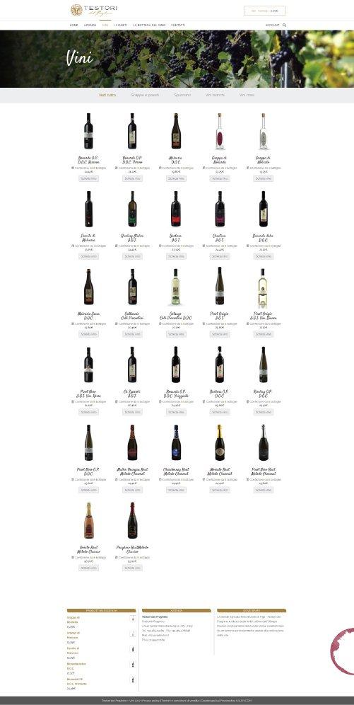 Sito eCommerce Azienda Vinicola Testori del Praghino - KAUKY.COM