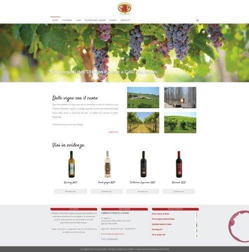 Sito web Azienda Vitivinicola Vigano