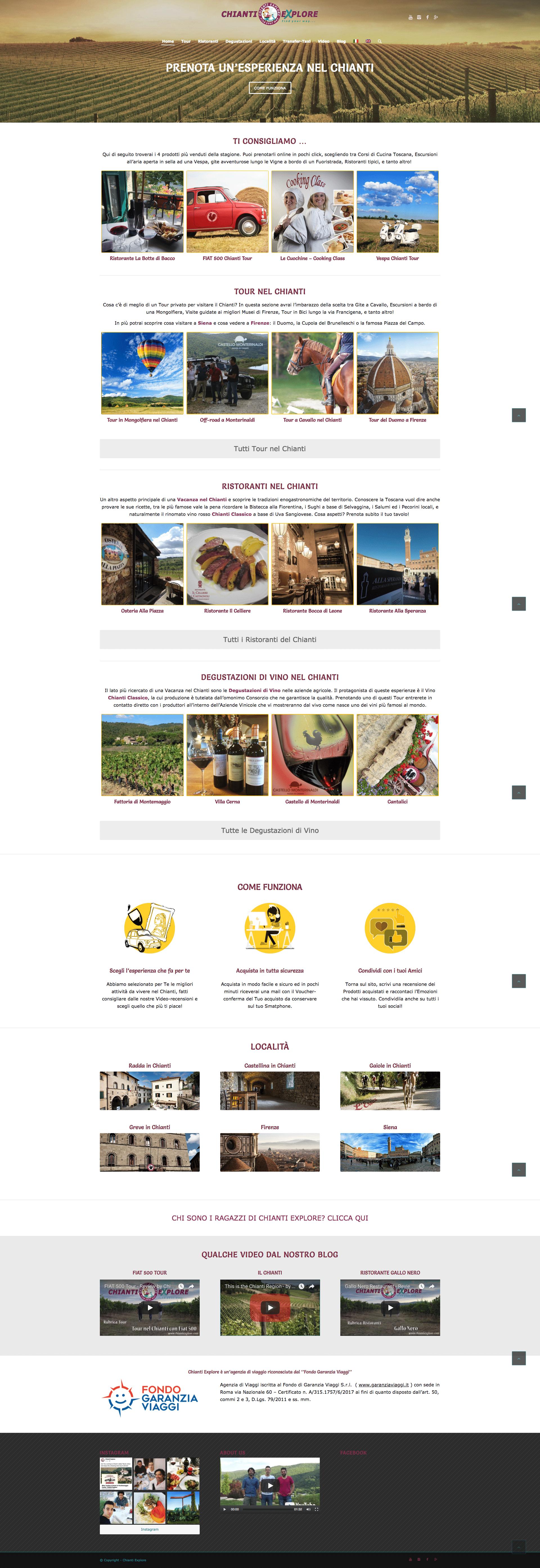 Ottimizzazione SEO Sito web Chianti Explore