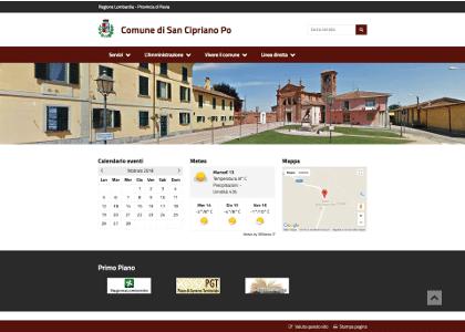 Realizzazione sito web Comune di San Cipriano Po Pavia
