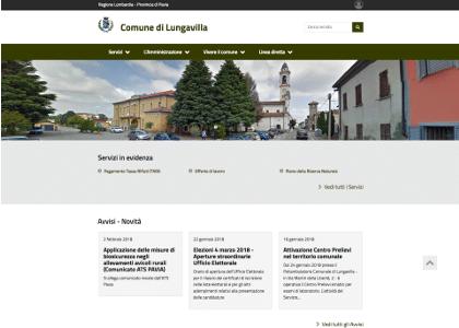Realizzazione sito web comune di Lungavilla Pavia