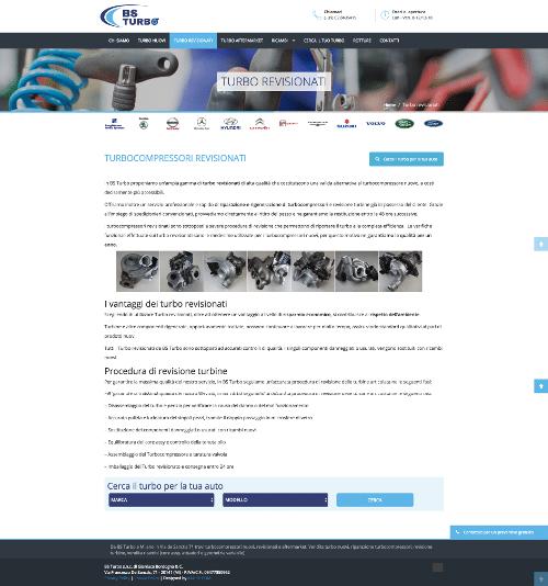 Realizzazione sito web BS Turbo