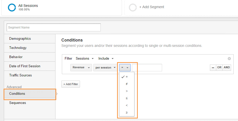 Segmenti e Limiti Google Analytics