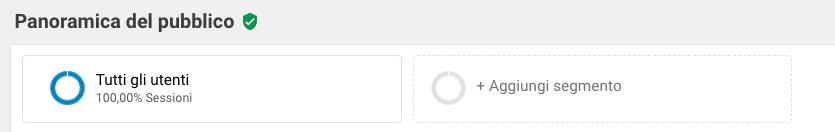 Selettore segmenti Google Analytics