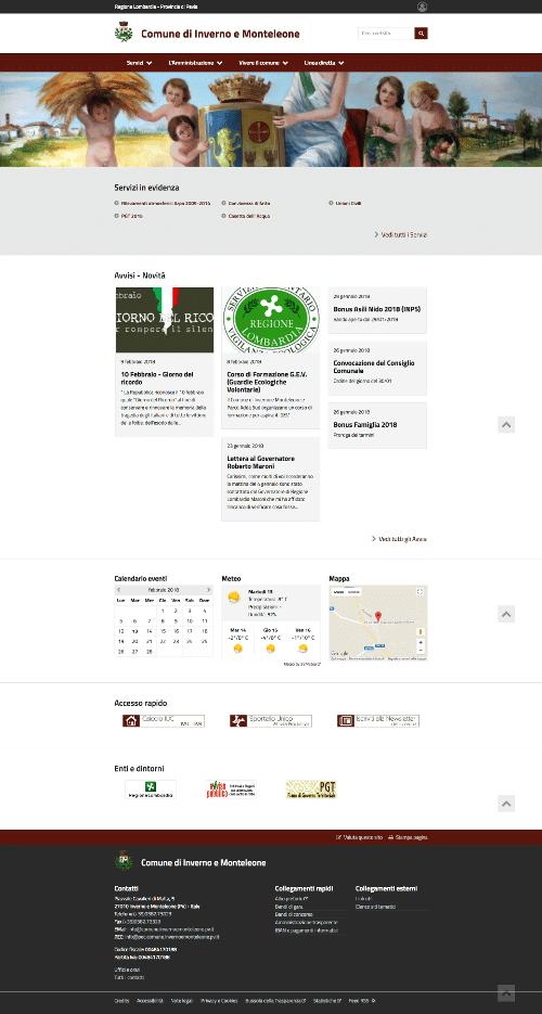 Realizzazione Sito Web Comune di Inverno Monteleone Pavia