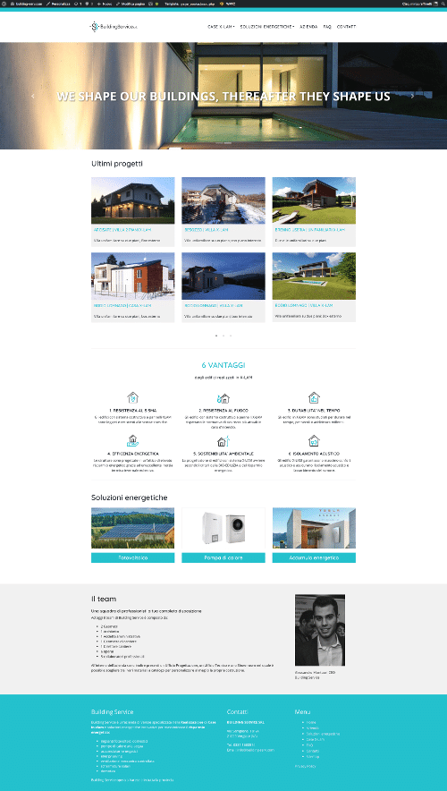 Building Service Restyling sito web