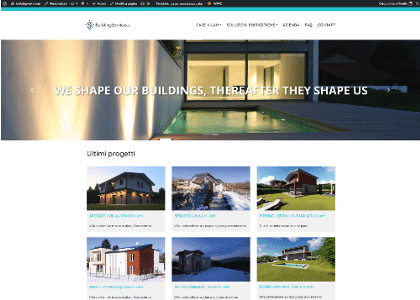 Realizzazione sito web Building Service