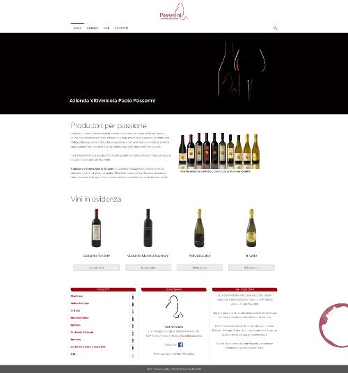 Sito Web Azienda Vinicola Paolo Passerini