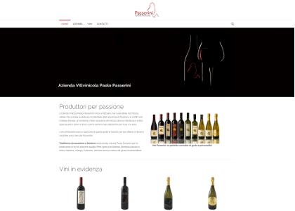 Realizzazione Sito Web Azienda Vinicola Paolo Passerini