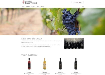 Realizzazione sito ecommerce Vercesi Ivano Vini