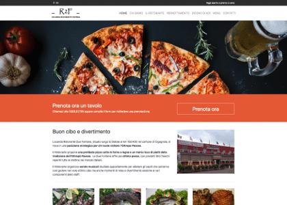 Realizzazione Sito web Ristorante Pizzeria Le 2 fontane