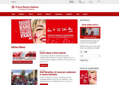 Realizzazione sito web Croce Rossa Stradella