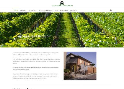 realizzazione sito web azienda agricola f.lli daturi