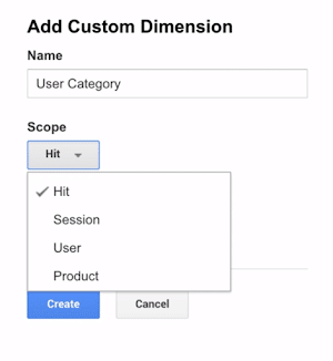 custom dimension