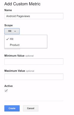 custom metric